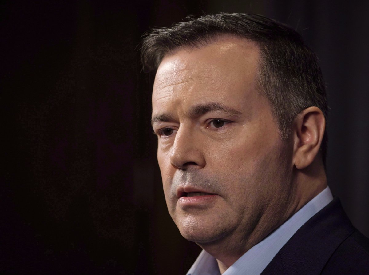 Jason Kenney speaks to the media at his first convention as leader of the United Conservative Party in Red Deer, Alta., Sunday, May 6, 2018. Alberta Opposition Leader Jason Kenney says a UCP government would launch a new immigration strategy to attract more entrepreneurs and focus on rural communities.