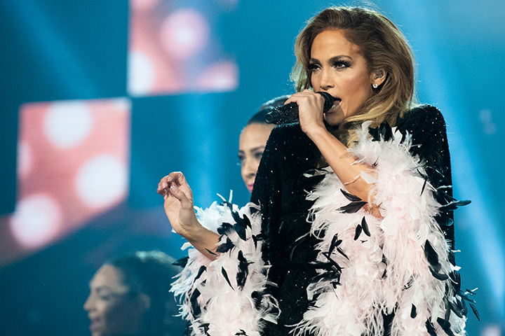 Jennifer Lopez performs onstage at the 61st annual Grammy Awards at Staples Center on Feb. 10, 2019, in Los Angeles, Calif.