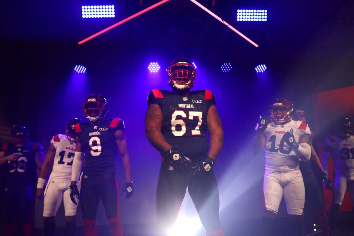 The CFL's Montreal Alouettes have unveiled their new logo and uniforms.