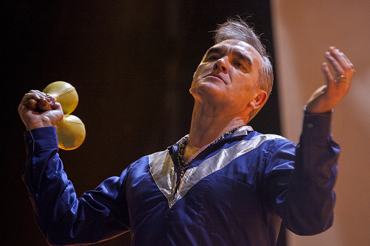 Morrissey performs onstage on the first day of SOS4.8 on May 1, 2015 in Murcia, Spain.