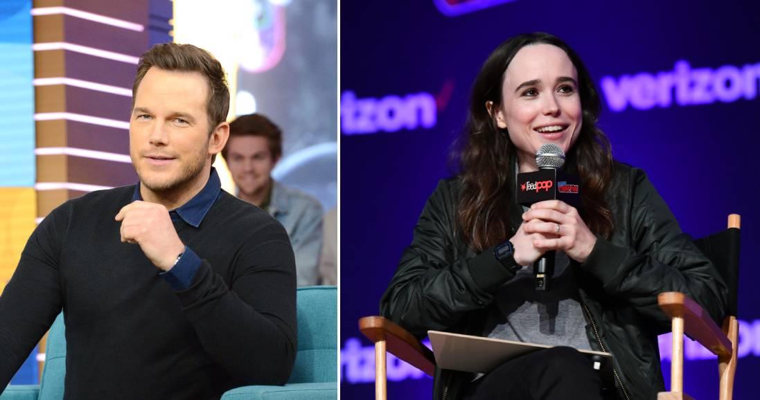 (L-R): Chris Pratt and Ellen Page.