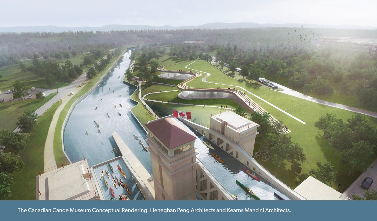 The new Canadian Canoe Museum will be built alongside the Peterborough Lift Lock.