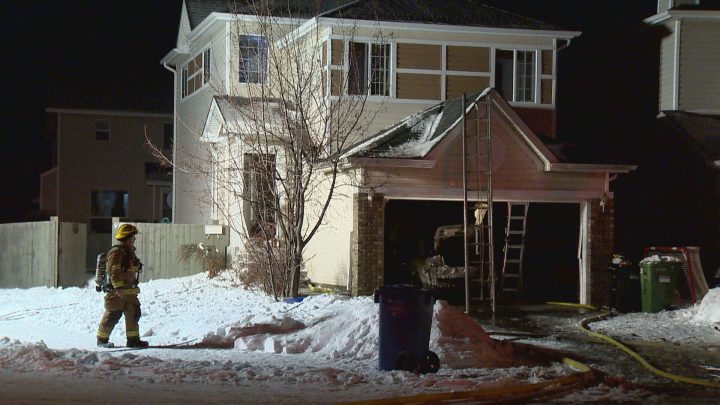 Crews were called to a garage fire in northwest Calgary on Wednesday.