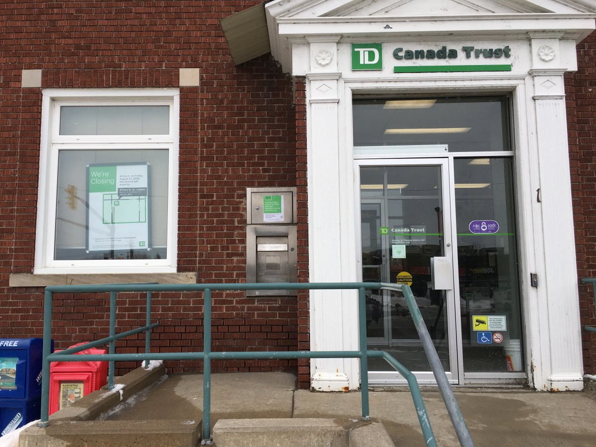 TD Canada Trust announces it will close its branches in Omemee and Bethany, Ont. on August 23.