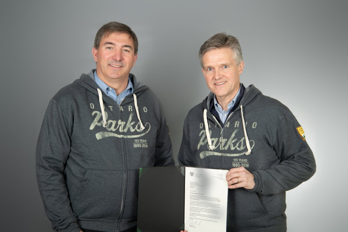 Peterborough Kawartha MPP Dave Smith, left, has been named an advisor to Rod Phillips, Minister of the Environment, Conservation and Parks.
