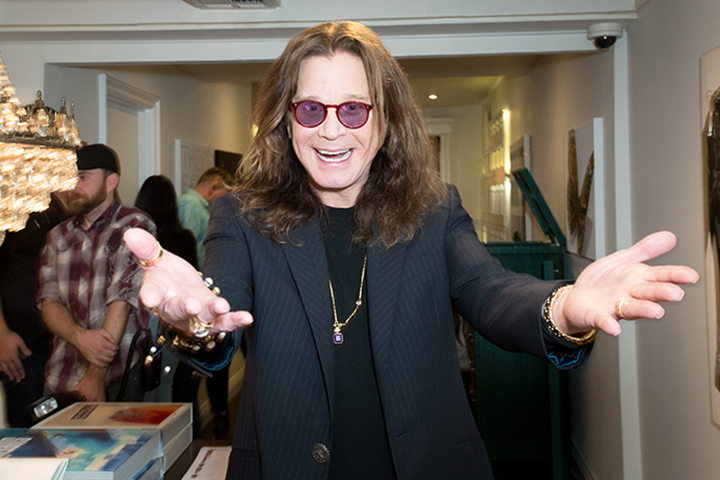 Ozzy Osbourne attends the Billy Morrison — Aude Somnia Solo Exhibition at Elisabeth Weinstock on Sept. 28, 2017, in Los Angeles, California.