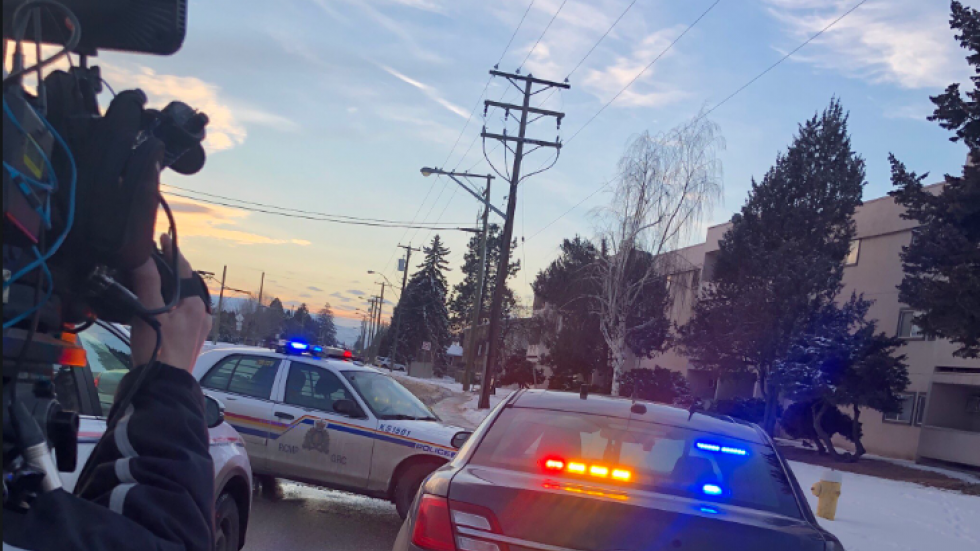 Two people are in hospital after a shooting in Kamloops.