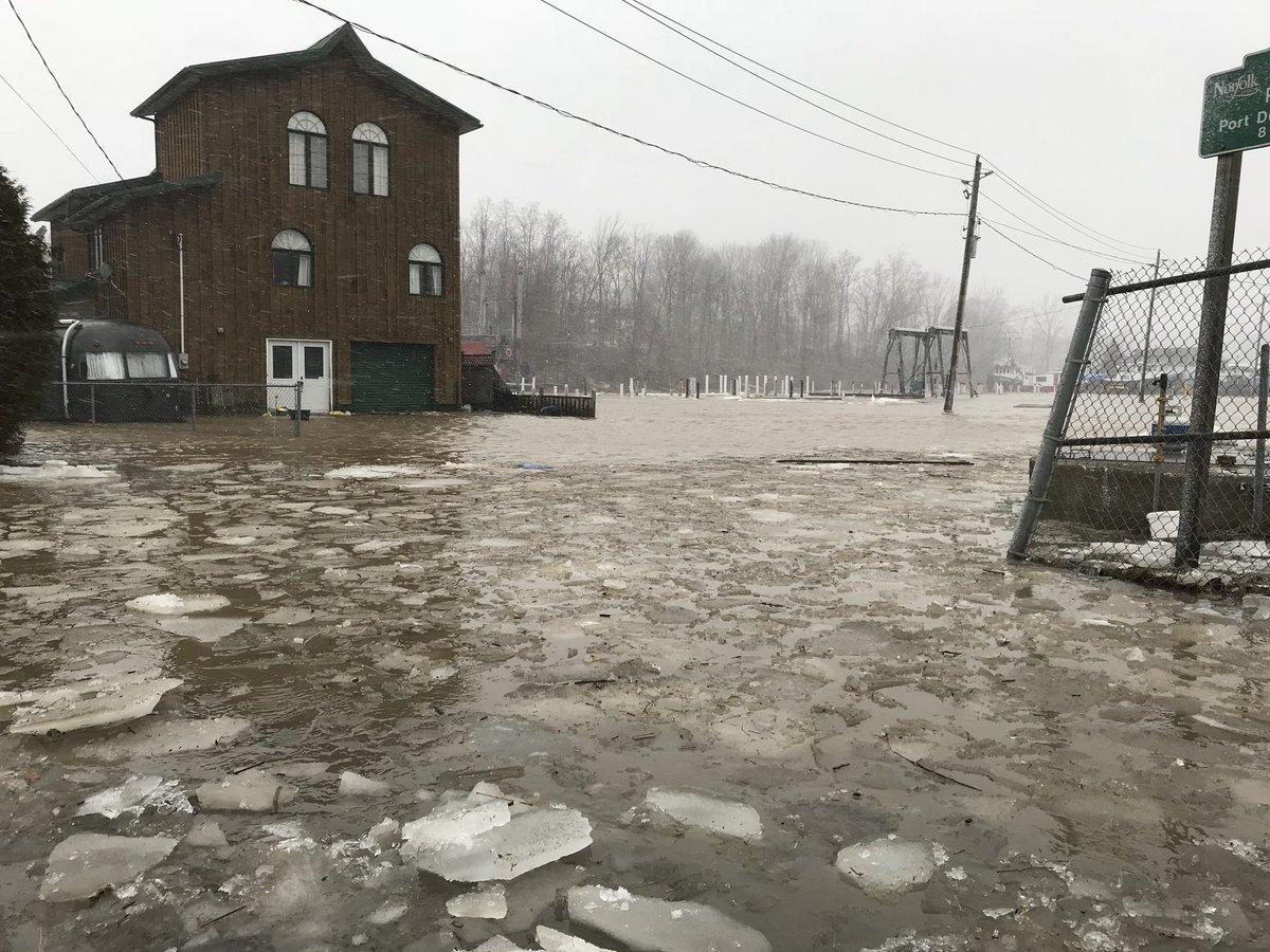 Flooding in Port Dover, Ont. on Feb. 24, 2019.