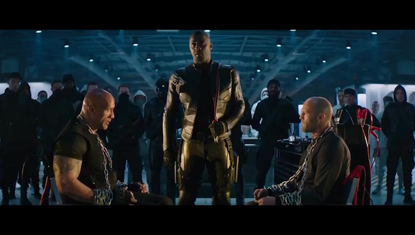 Dwayne Johnson and Jason Statham reprise their roles as Luke Hobbs and Deckard Shaw in 'Fast & Furious Presents: Hobbs & Shaw.'.