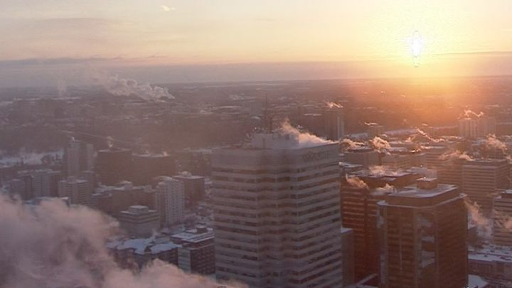 A view of Edmonton from Global News' Skytracker camera on Feb. 8, 2019.