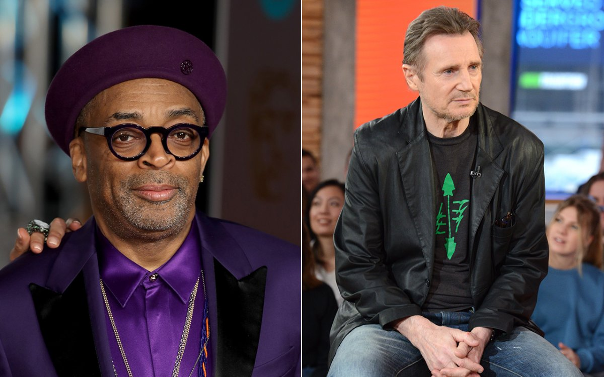 (L-R): Spike Lee and Liam Neeson.