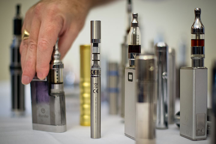 A selection of vape pens pictured in this November 12, 2013 file photo.