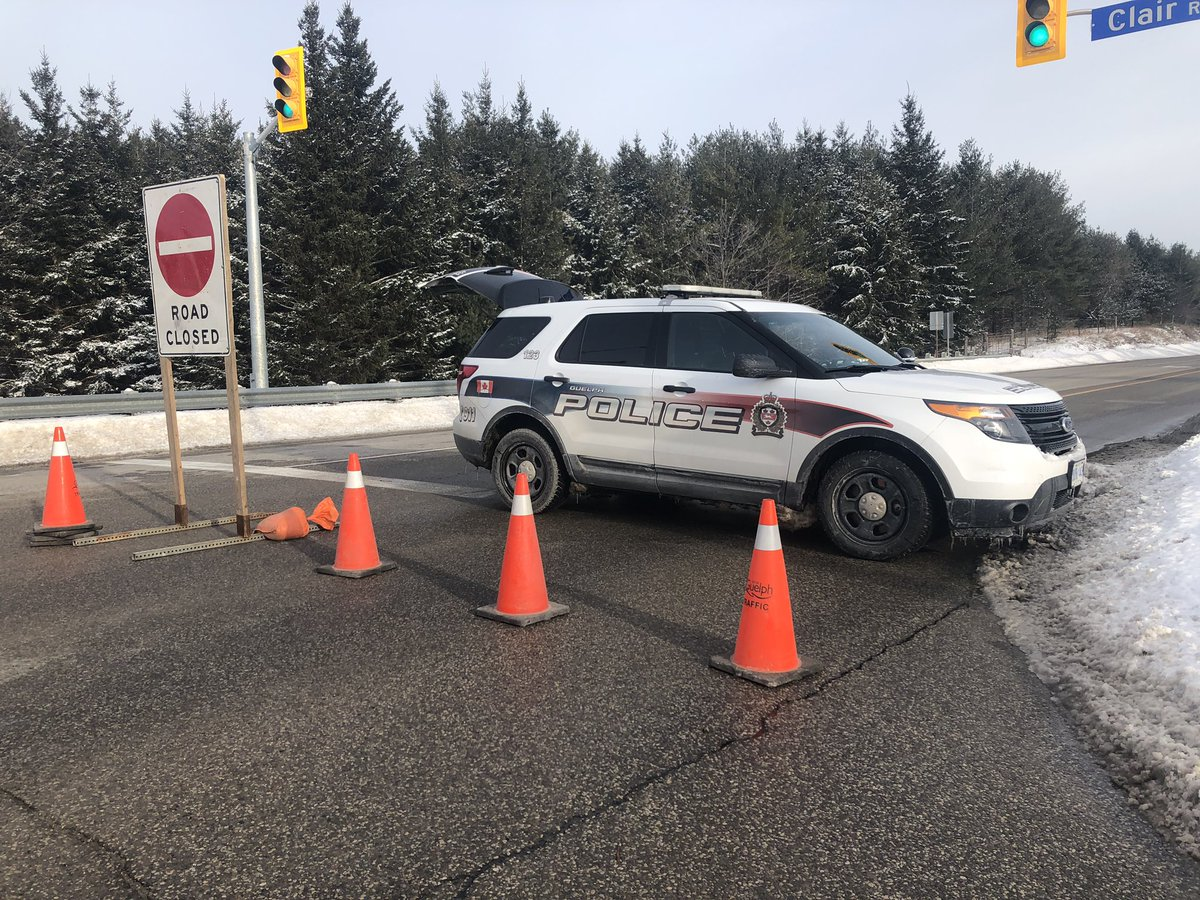 Guelph police say a driver had to be airlifted to hospital in critical condition following a head-on crash on Thursday.
