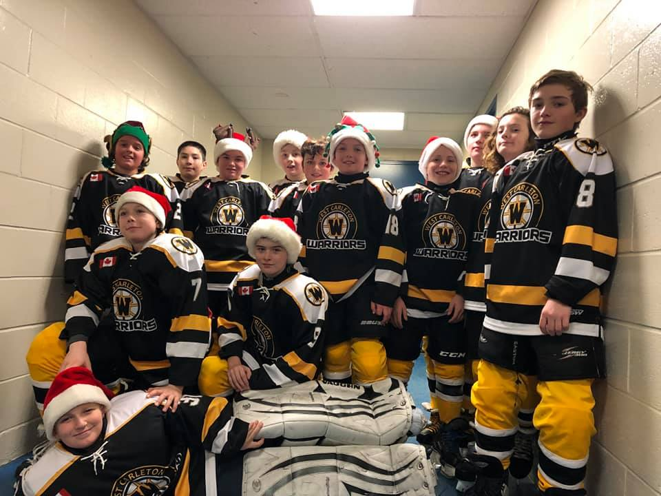The West Carleton Warriors peewee hockey team is one of three finalists in Chevrolet's Good Deeds Cup contest. The prize for first place is $100,000 to the winning team's charity of choice. The Warriors hope to win the pot of cash for the West Carleton Disaster Relief fund.