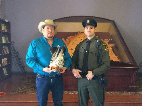 Alberta Fish and Wildlife Officer Marasco took possession of the headdress under the authority of the Wildlife Act and got to work tracking down where the item had come from, and who it rightfully belonged to.