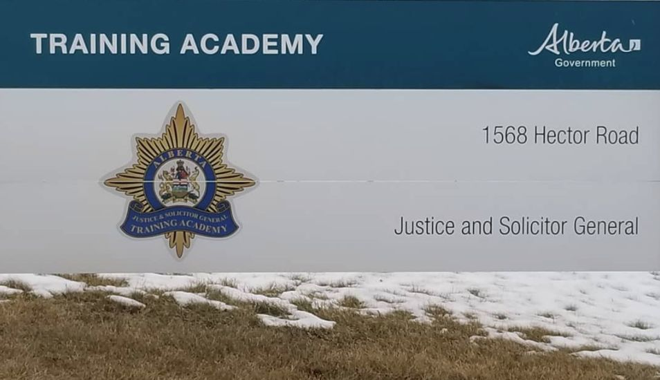 The Alberta Justice training academy in Terwillegar, south Edmonton.