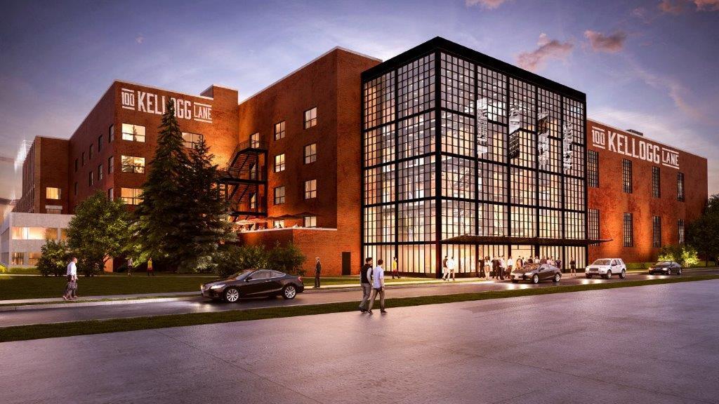 Artistic rendering of 100 Kellogg redevelopment.
