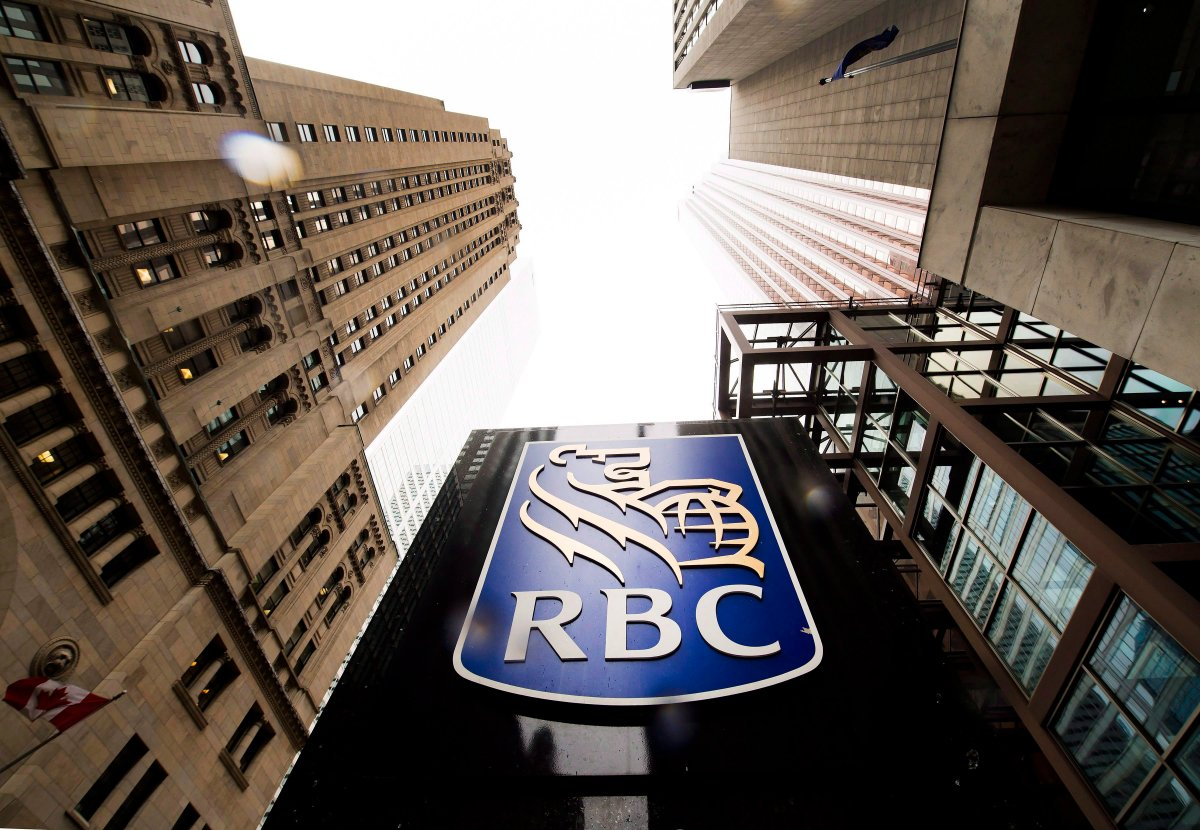 A Royal Bank of Canada sign is shown in the financial district in Toronto in an August 22, 2017 file photo.