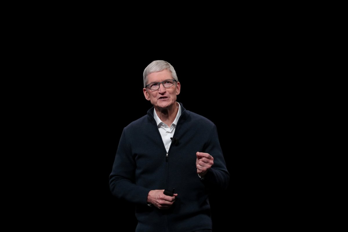 Apple CEO Tim Cook speaks during an Apple launch event in the Brooklyn borough of New York, U.S., October 30, 2018.