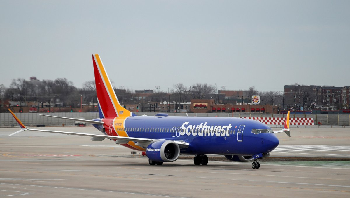 A Southwest Airlines Co. Boeing 737 MAX 8 aircraft taxis after landing at Midway International Airport in Chicago, Illinois, U.S., March 13, 2019.