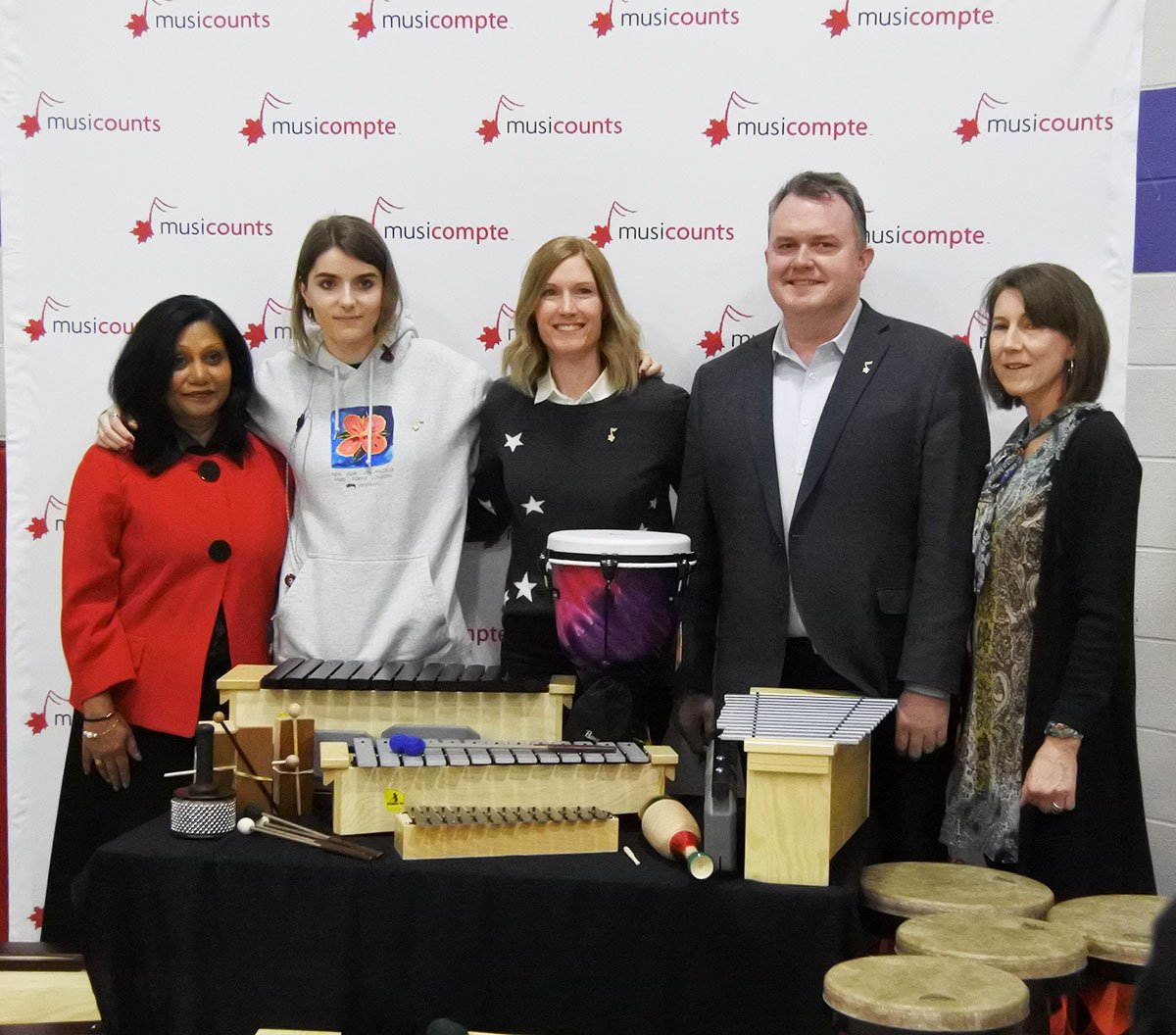 MusiCounts awarded $15,000 worth of musical instruments to St. Paul Catholic Elementary School on Monday.