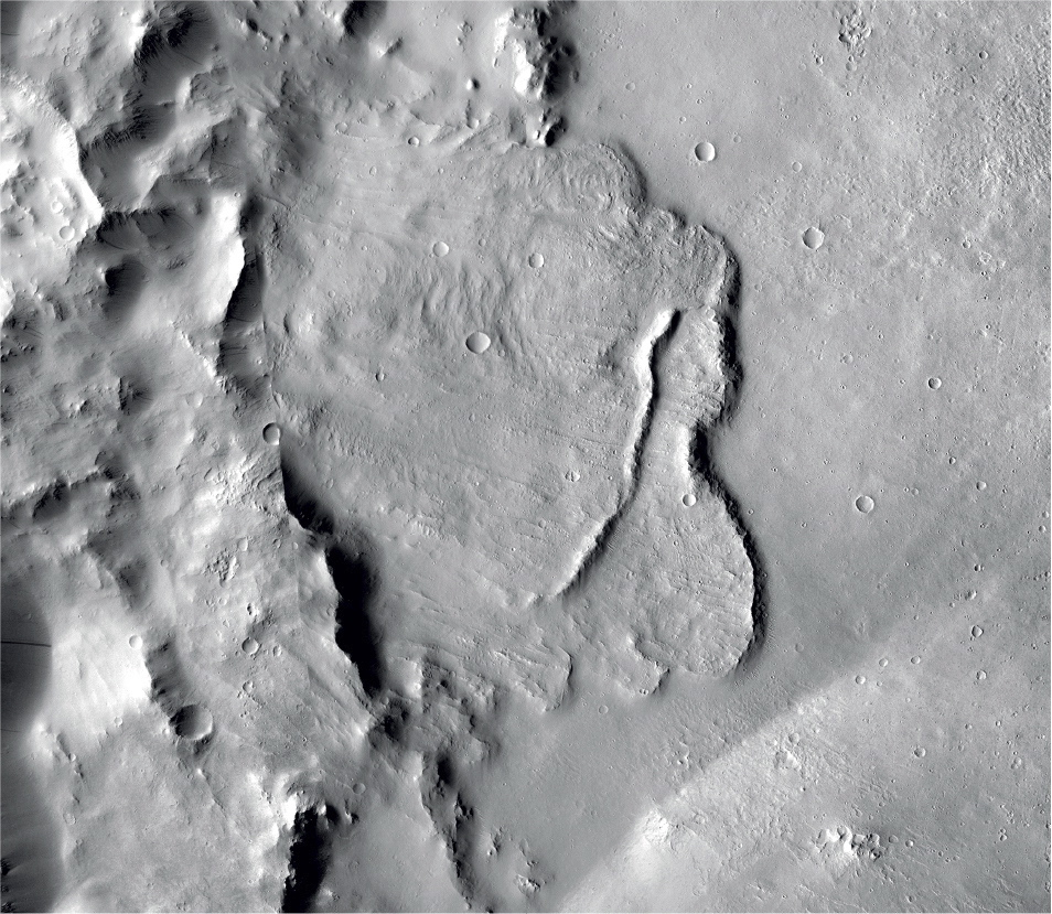 This undated photo provided by the European Space Agency, ESA, shows the surface of the Mars.