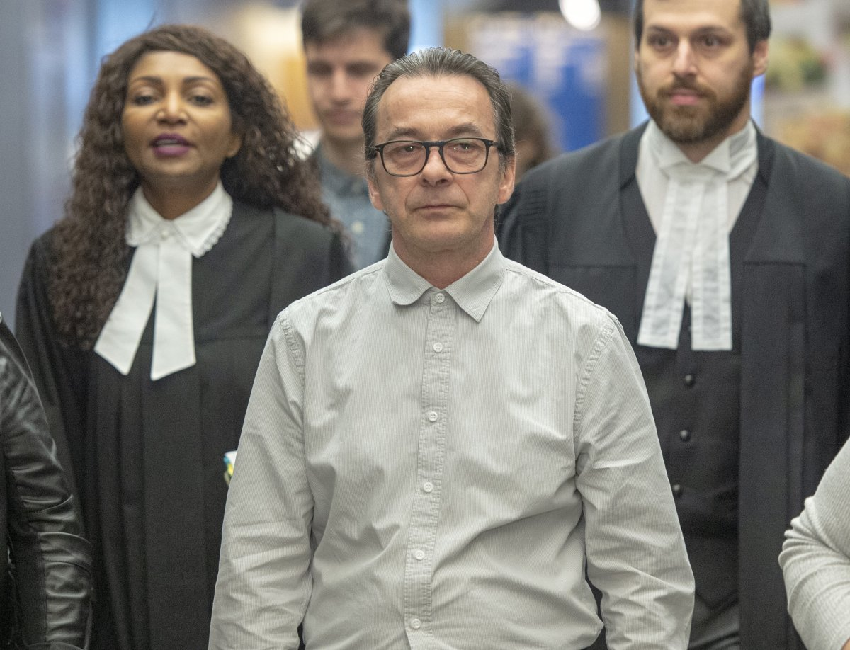 Michel Cadotte, accused of murder in the 2017 death of his ailing wife in what has been described as a mercy killing, arrives for his sentencing hearing at the courthouse Friday, March 8, 2019 in Montreal.