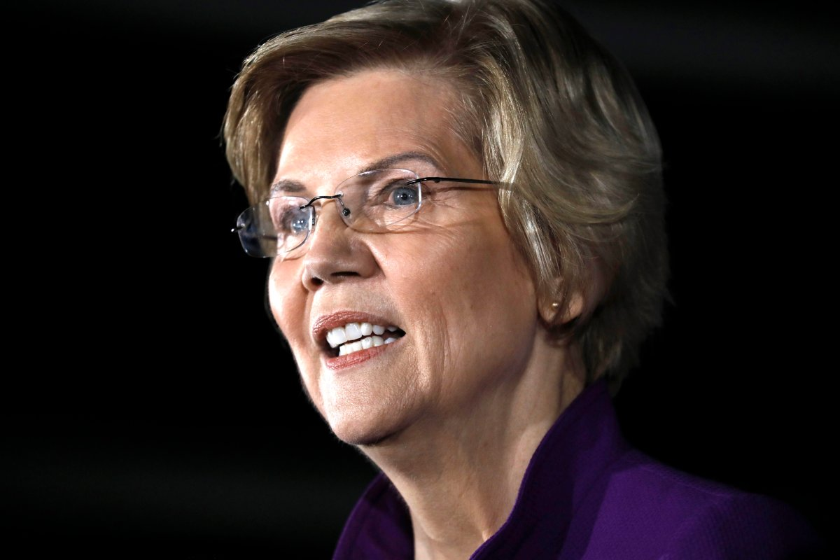 Massachusetts Senator Elizabeth Warren speaks at a campaign rally in Long Island City, Queens in New York, March 8, 2019.