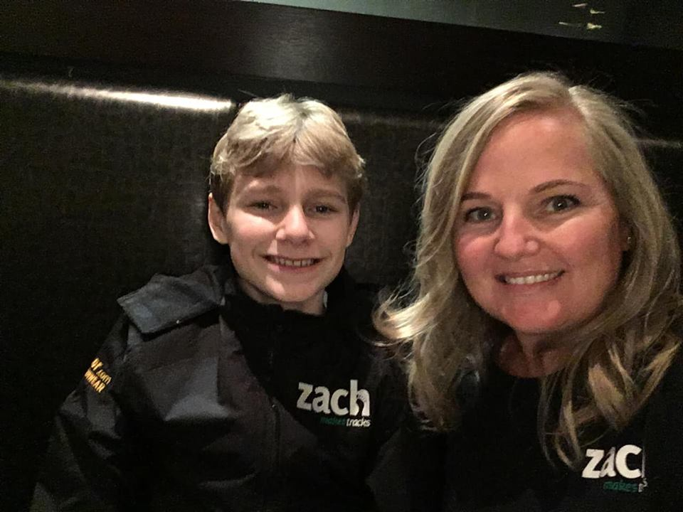 Zach Hofer (left) has raised more than $126,000 for youth mental health.