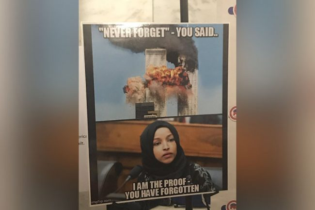 Democratic Rep. Ilhan Omar likened to 9/11 terrorist in poster at Republican event - image