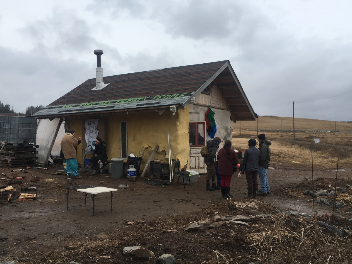 Mi'kmaw grandmothers and their supporters hold a sacred water ceremony at the Alton Gas site in Fort Ellis, N.S. on Fri. March 22, 2019 in honour of World Water Day.
