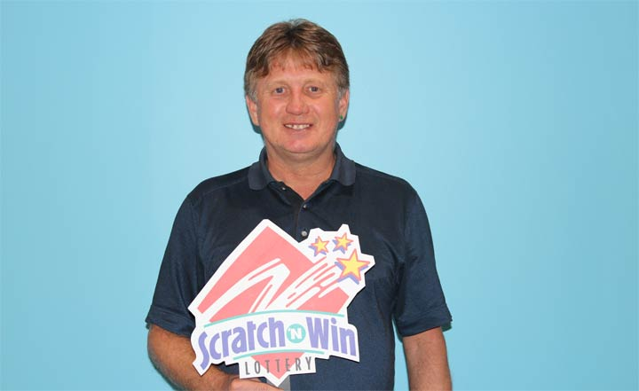 Thomas Munro, from Piapot, Sask., won $100,000 on one of the scratch-lottery tickets he received from his aunt.
