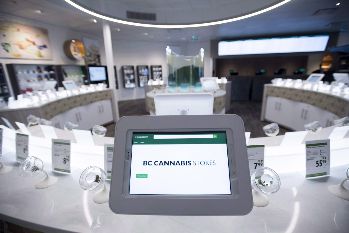 The inside of British Columbia's first legal cannabis store is pictured in Kamloops, B.C. Wednesday, Oct. 17, 2018. More than a dozen new stores are planned to open province-wide this summer, the Liquor Distribution Branch said.