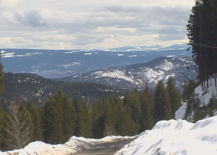 The Okanagan snowpack level is at 72 per cent of normal as of April 1, according to the latest statistics.