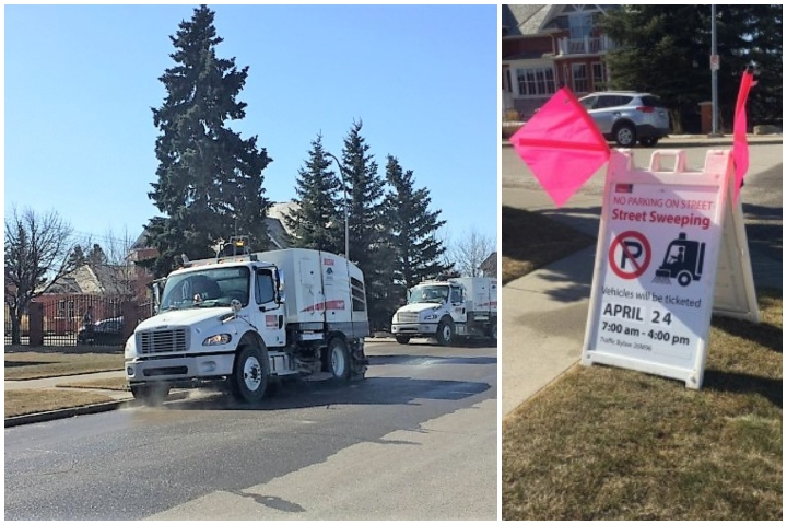 The City of Calgary's street sweeping starts on April 1, 2019.