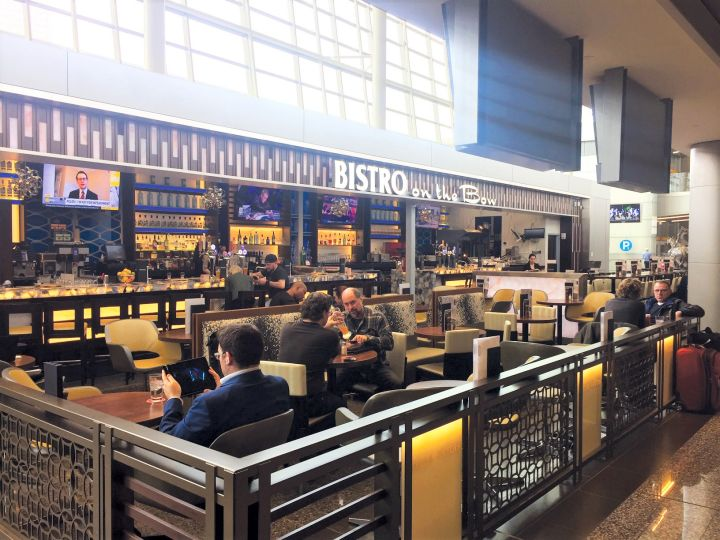 Bistro on The Bow, situated on the international arrivals level of the Calgary Airport, was ranked #6 on the list as part of the USA Today10Best Readers' Choice Awards.