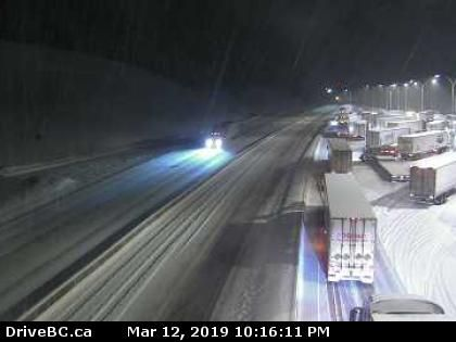 Box Canyon chainup, Coquihalla highway, March 12.