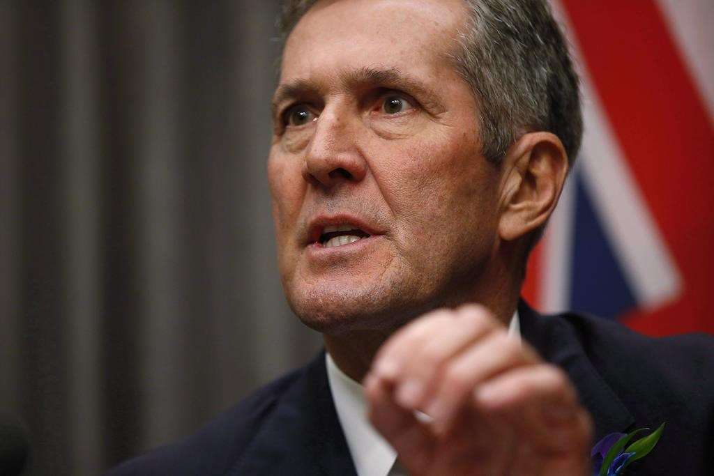 Manitoba Progressive Conservative Leader Brian Pallister vowed to reduce crime in downtown Winnipeg at a Monday announcement.