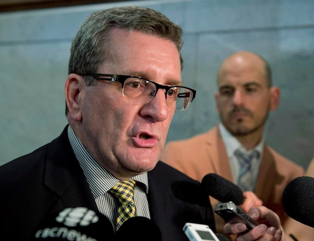 Quebec City Mayor Regis Labeaume has filed a complaint with the local police department.