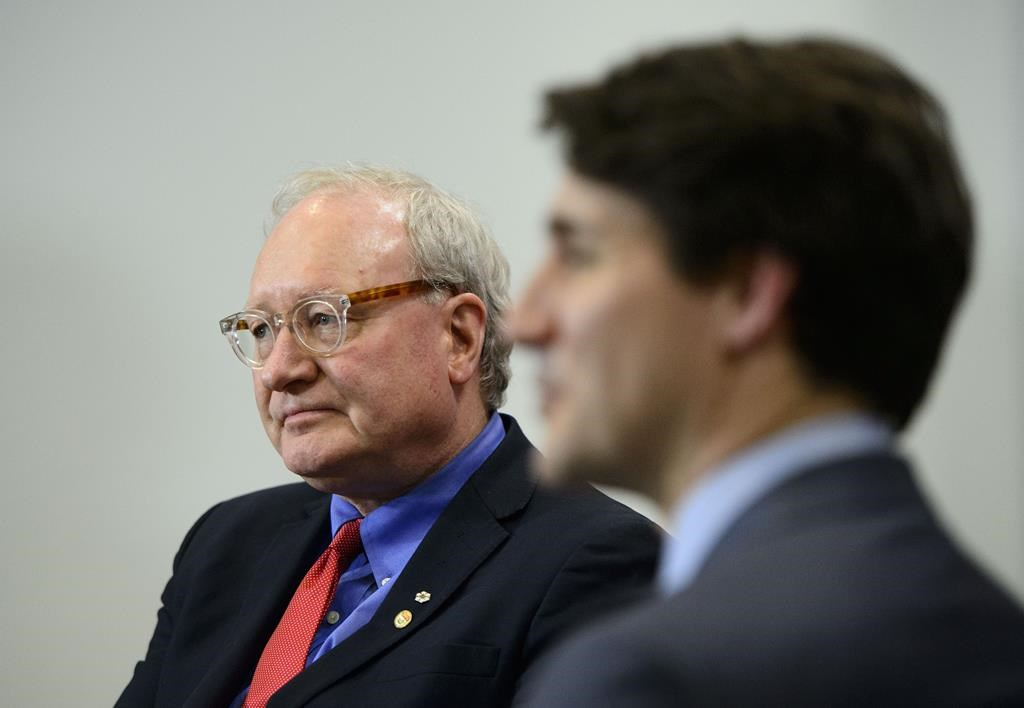 Prime Minister Justin Trudeau meets with Premier of Prince Edward Island Wade MacLauchlan in Ottawa on January 29, 2019.