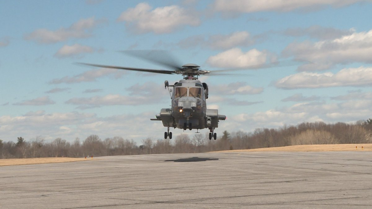 New Canadian military Cyclone helicopter lands in Kingston - image