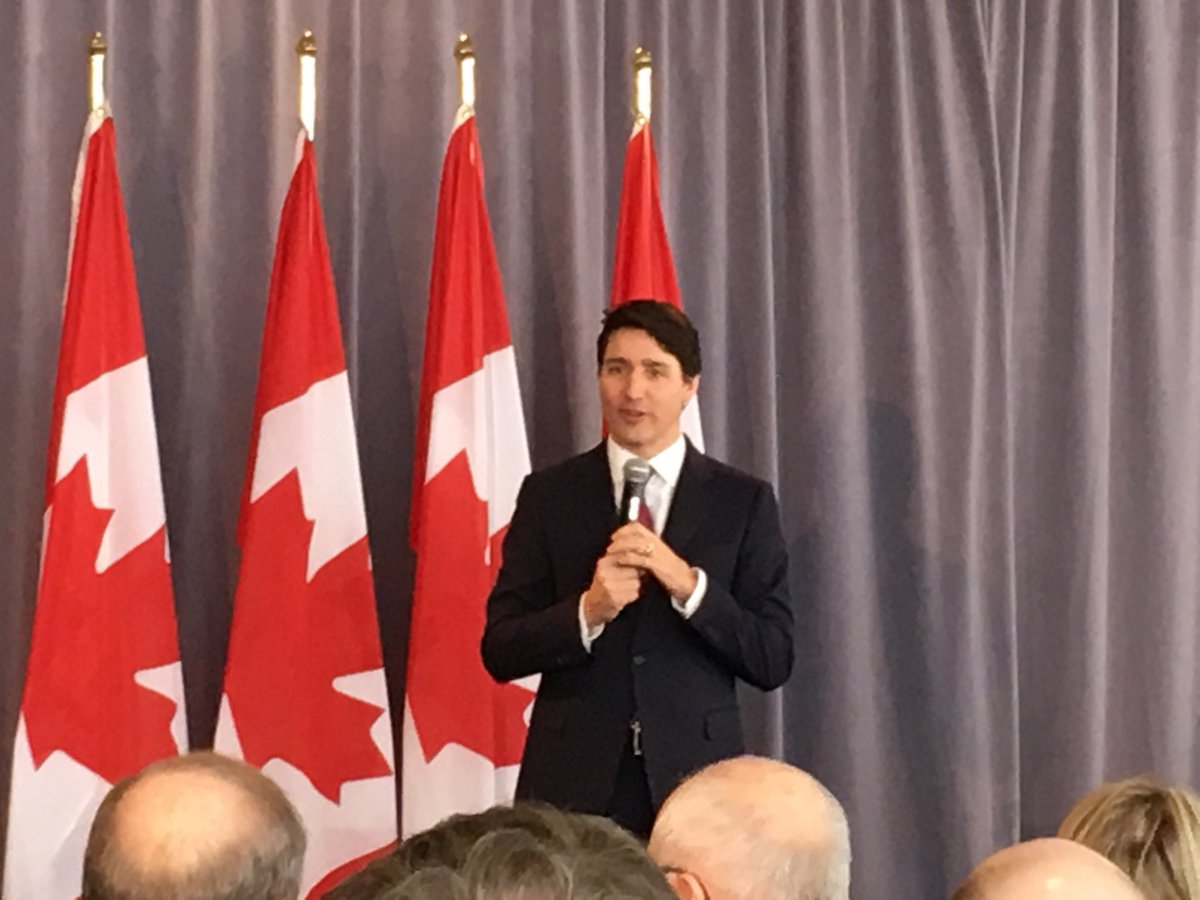 Prime Minister Justin Trudeau speaks at a breakfast rally in P.E.I. on Monday, March 4.