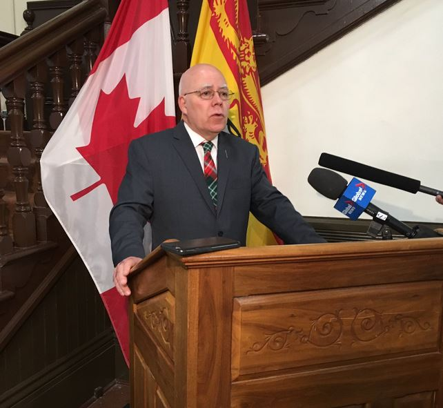 New Brunswick Green Party Leader David Coon is seen on Wednesday, March 13, 2019.