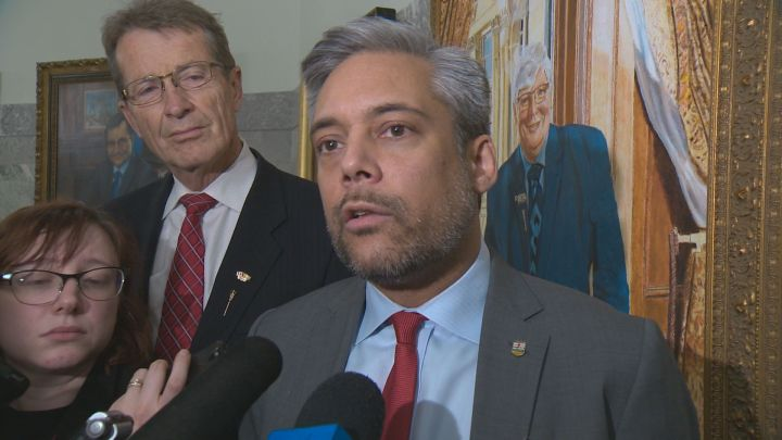 Alberta Liberal leader David Khan pictured in December 2018.