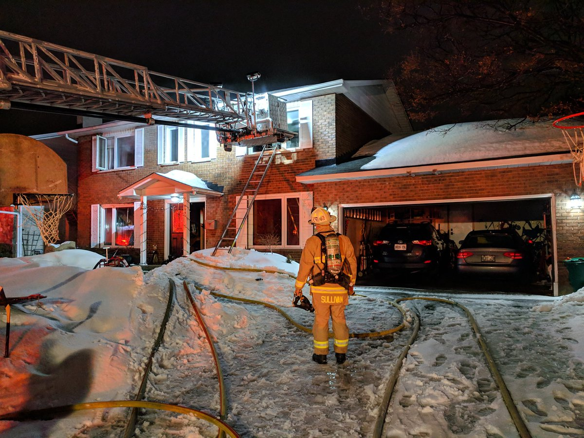 Ottawa fire officials say a fire on Sunday damaged a home in the city's west end.