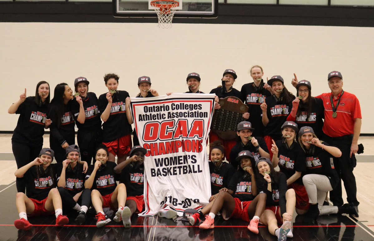 The Fanshawe Falcons' women's basketball team have won the OCAA Championship in 2018 and 2019.