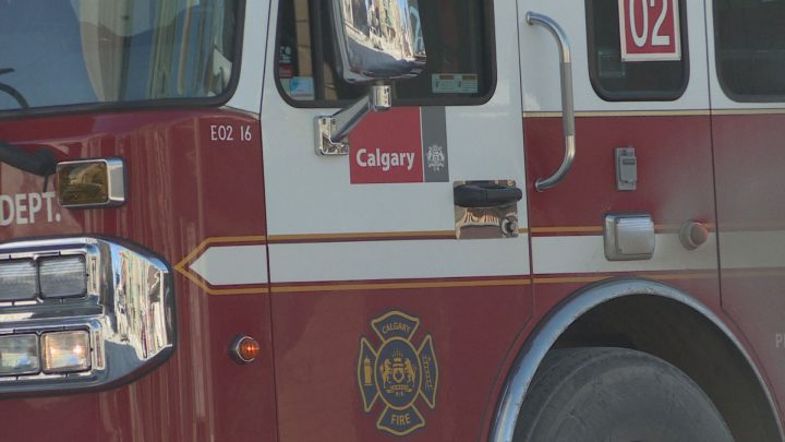 Calgary firefighters responded to a blaze in the community of Arbour Lake on Monday morning.