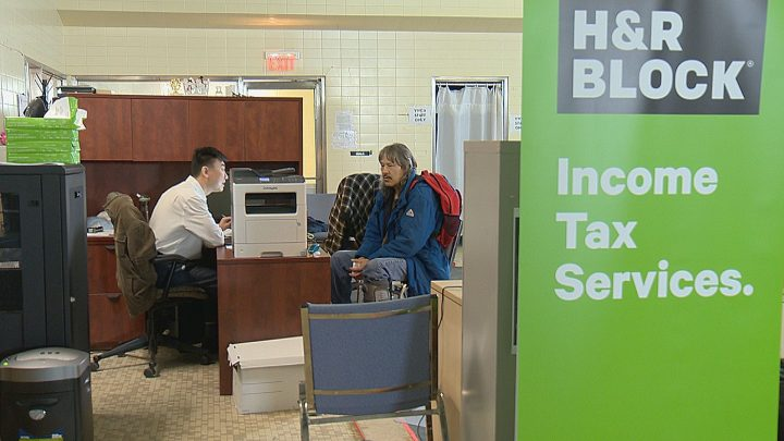 H&R Block and Carmichael Outreach are working together to offer those living under the poverty in Regina free tax filling.