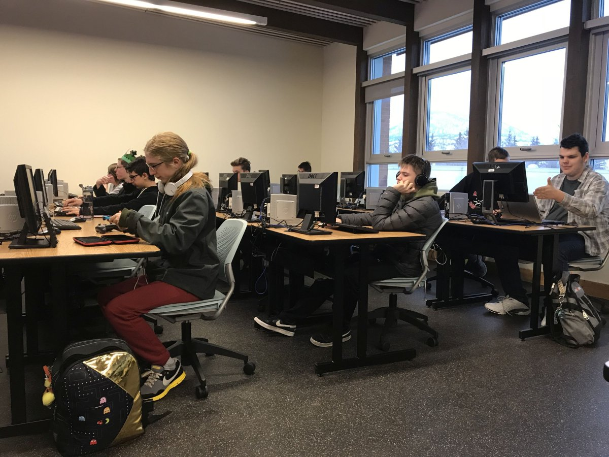 High school students are taking a course on tech at Penticton's Okanagan College campus.
