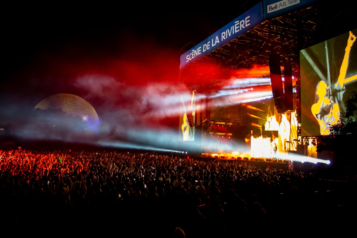 General atmosphere at the Osheaga Music and Art Festival at Parc Jean-Drapeau on Aug. 3, 2018 in Montreal.